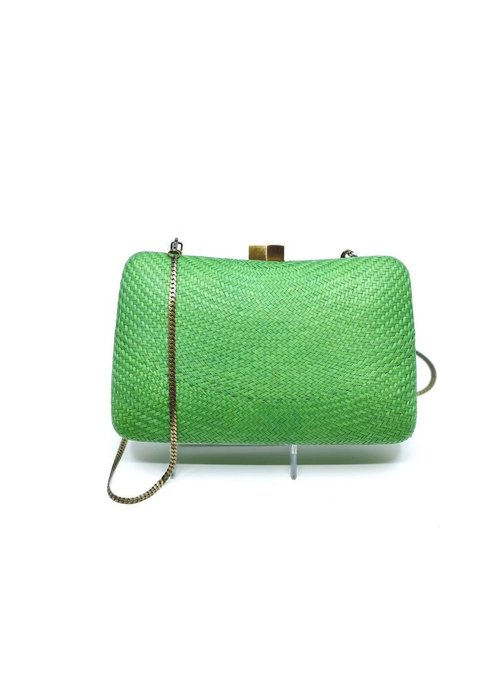 Serpui Marissa Bun With Beaded Strap - Green