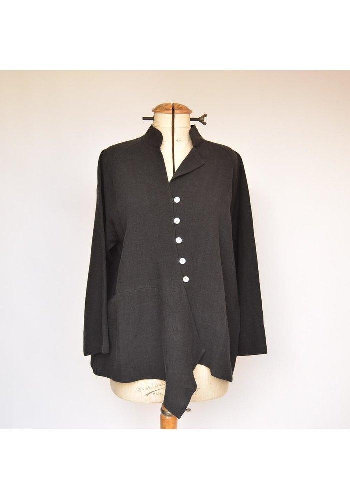 Christopher Calvin - Asymmetrical Button Jacket