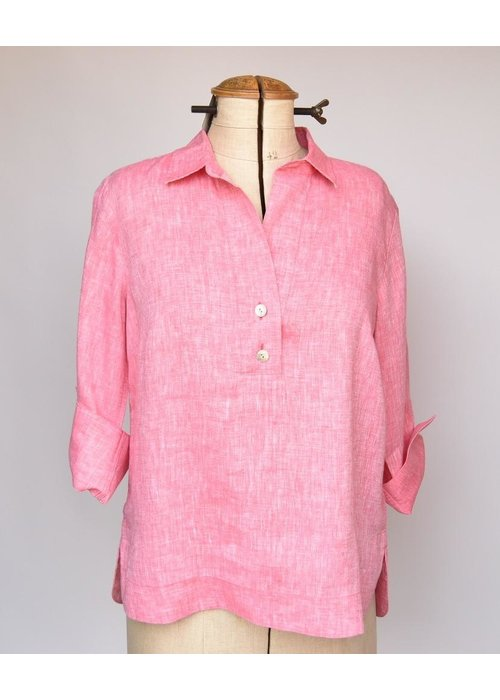 Hinson Wu Aileen Shirt 3/4 Sleeve Button Back Linen