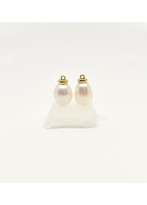Mazza Mazza Fresh Water Pearl Earring Charm 14k Gold