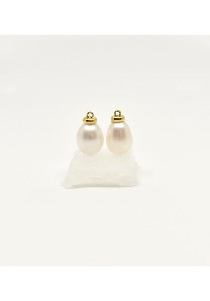 Mazza Fresh Water Pearl Earring Charm 14k Gold