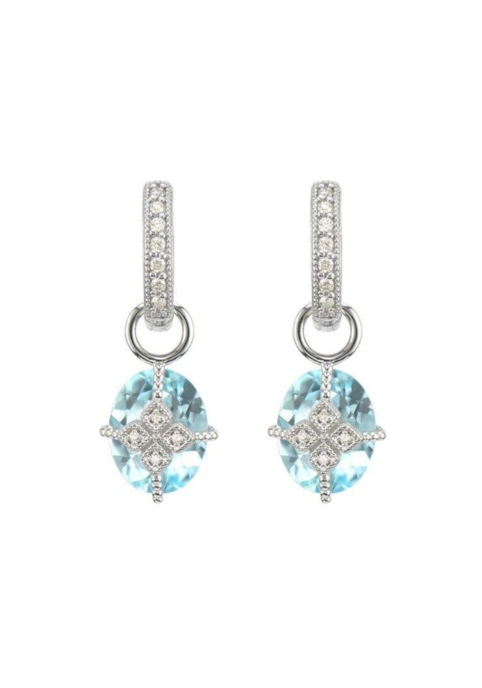 Lisse Maltese Kite Lacey Blue Topaz Earring Charms