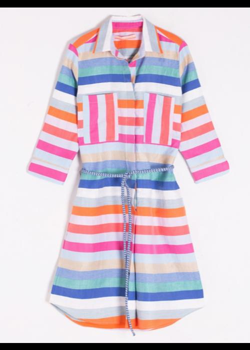 Vilagallo Vilagallo Stripe Linen Dress