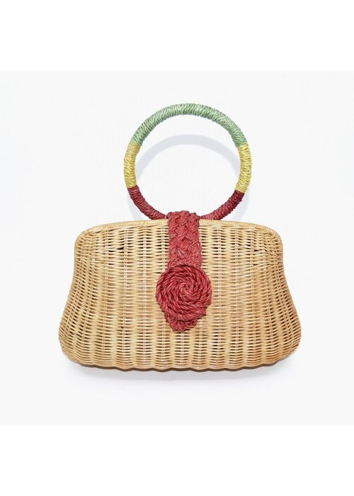 Serpui Serpui Blair Wicker Bag Pastel Combo