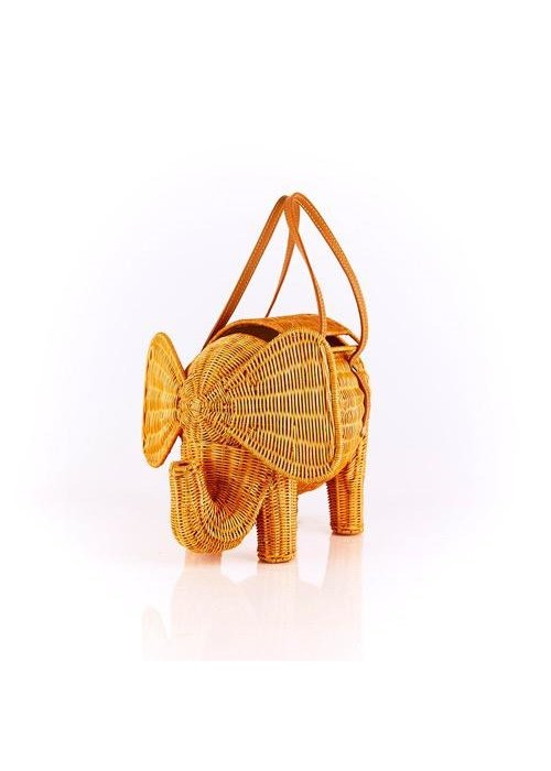 Serpui Serpui Elephant Wicker Bag
