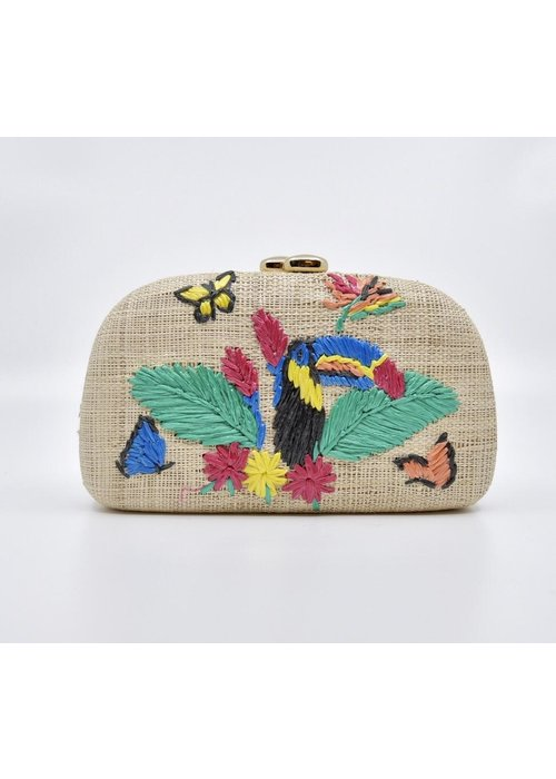 Serpui Serpui Mia Toucan Natural Straw Bag