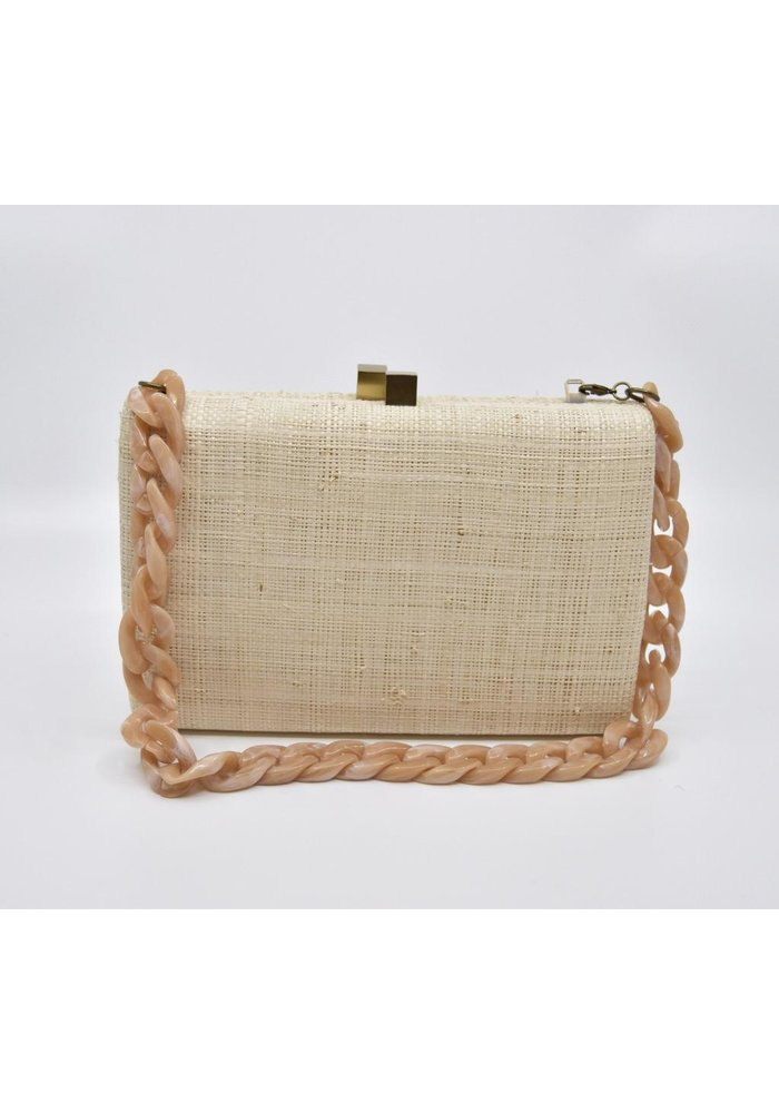 Serpui Beth Toucan Natural Straw Bag
