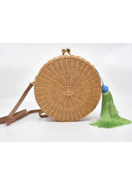 Serpui Serpui Natual Wicker Round Bag