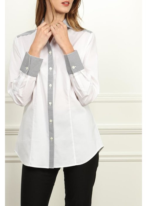 Hinson Wu Hinson Wu's Diane Shirt in contrasting white and black patterns