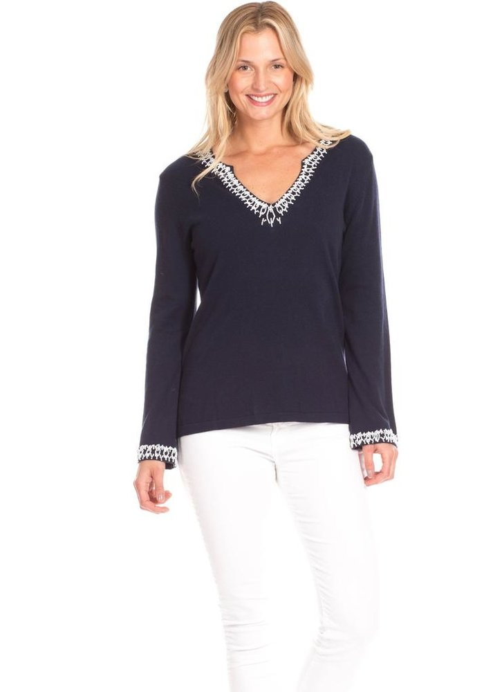 Duffield Lane Briggs Beaded Sweater