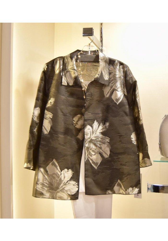 Caroline Rose Easy Shirt - <br /> Champagne./Black