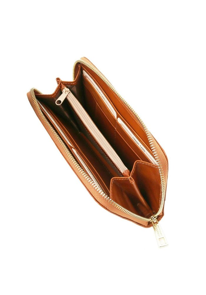 Tuscany Leather Accordion Wallet with Zip