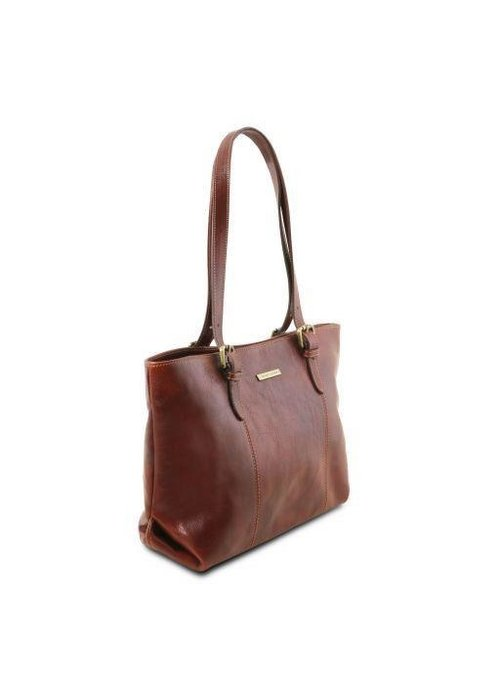 Tuscany Leather Tuscany Leather Annalisa shopping bag with two handles