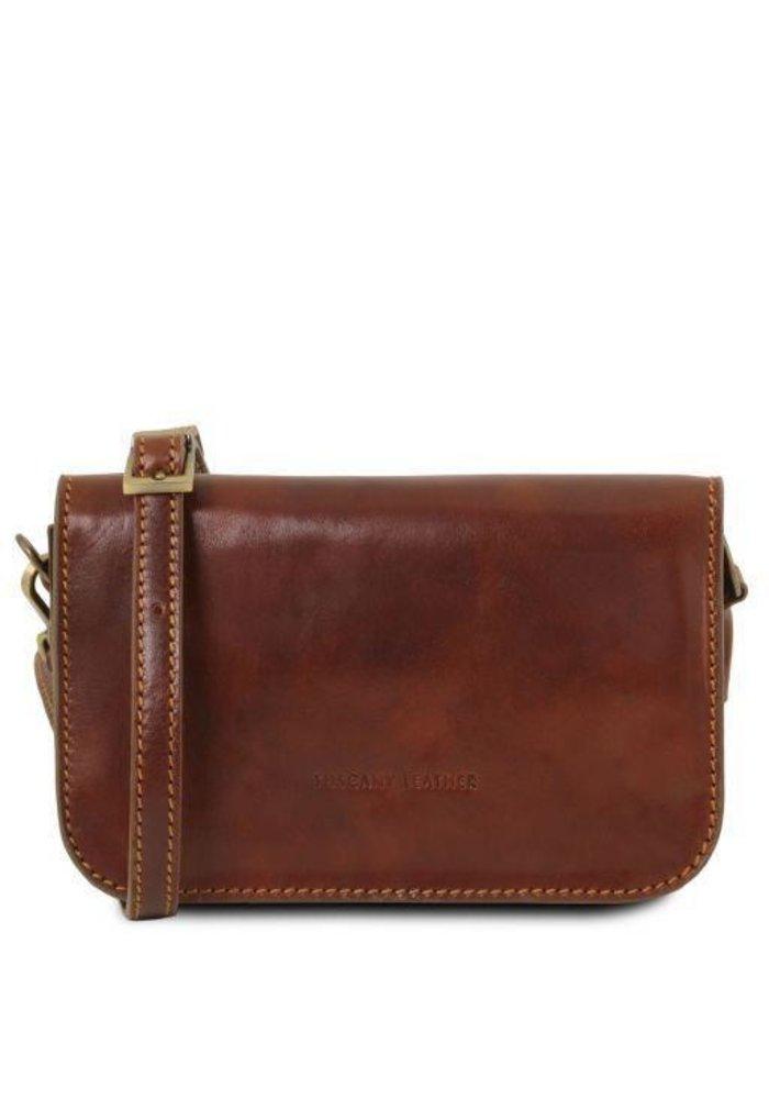 Tuscany Leather Carmen Shoulder Bag with Flap