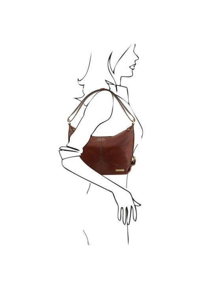 Tuscany Leather Sabrina Leather Hobo Bag