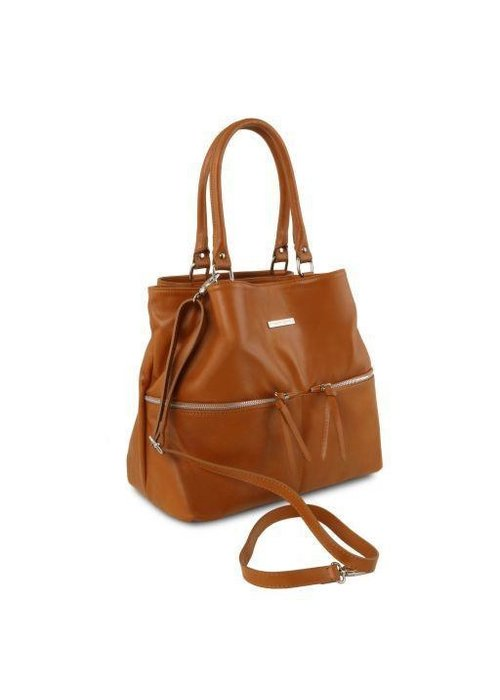 Tuscany Leather Tuscany Leather Shoulder Bag with Front Pockets