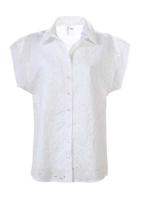 Finley Shirts Finley Shirts-Double Dolman Camp Shirt Daisy Eyelet