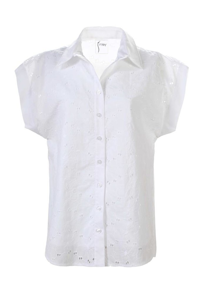 Finley Shirts-Double Dolman Camp Shirt Daisy Eyelet