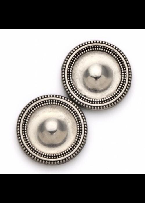 Magnebutton Magnet Button Antique Silver Tone Metal