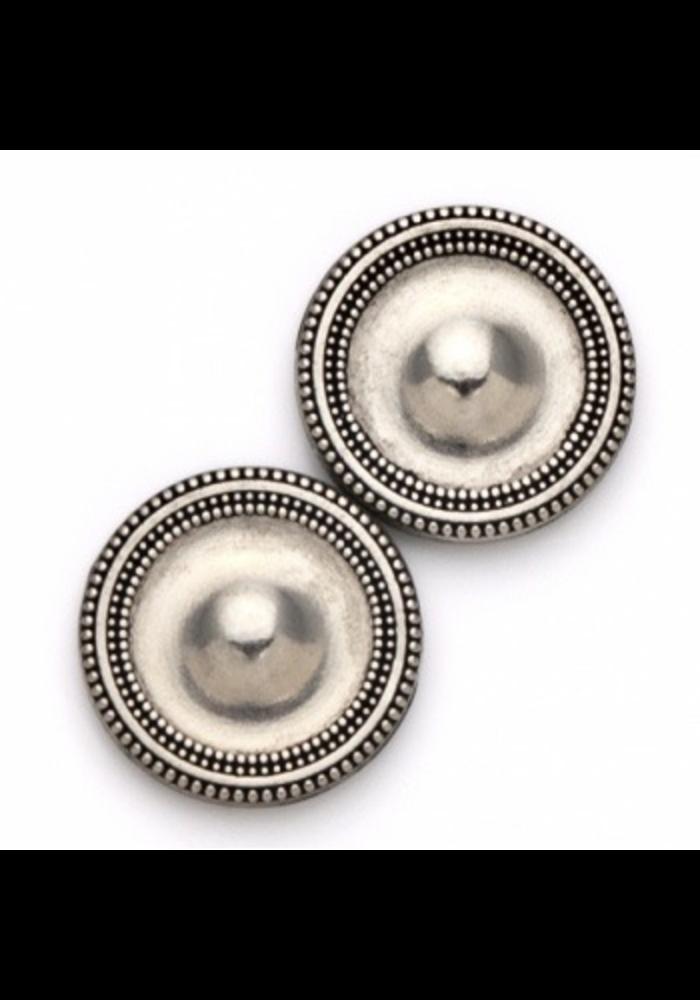 Magnet Button Antique Silver Tone Metal