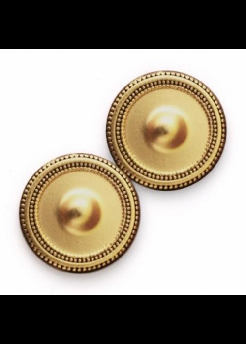 Magnebutton Magnet Button Antique Gold Tone Metal