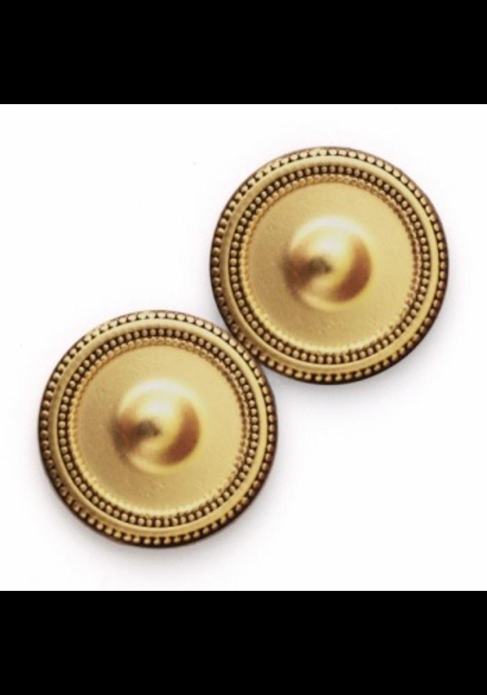 Magnet Button Antique Gold Tone Metal