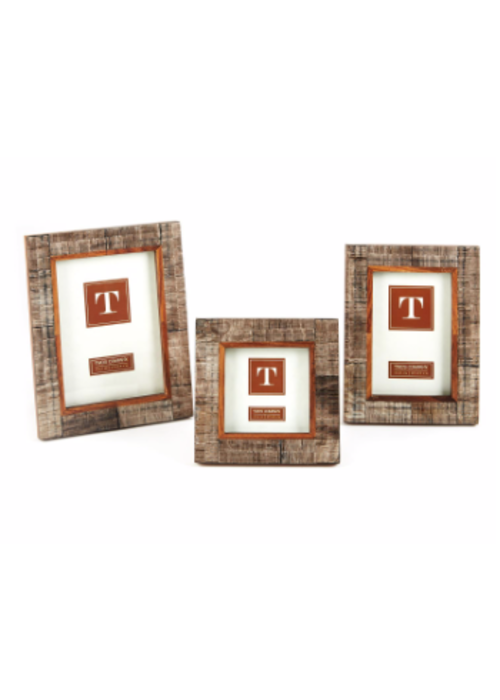 "Two's Company Chiseld Horn Photo Frame 4"" by 6"""