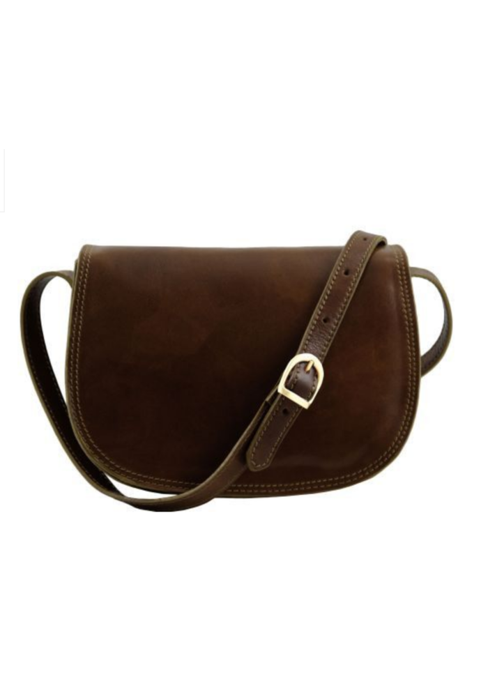 Tuscany Leather Isabella Lady Leather Bag, Dark Brown, O/S