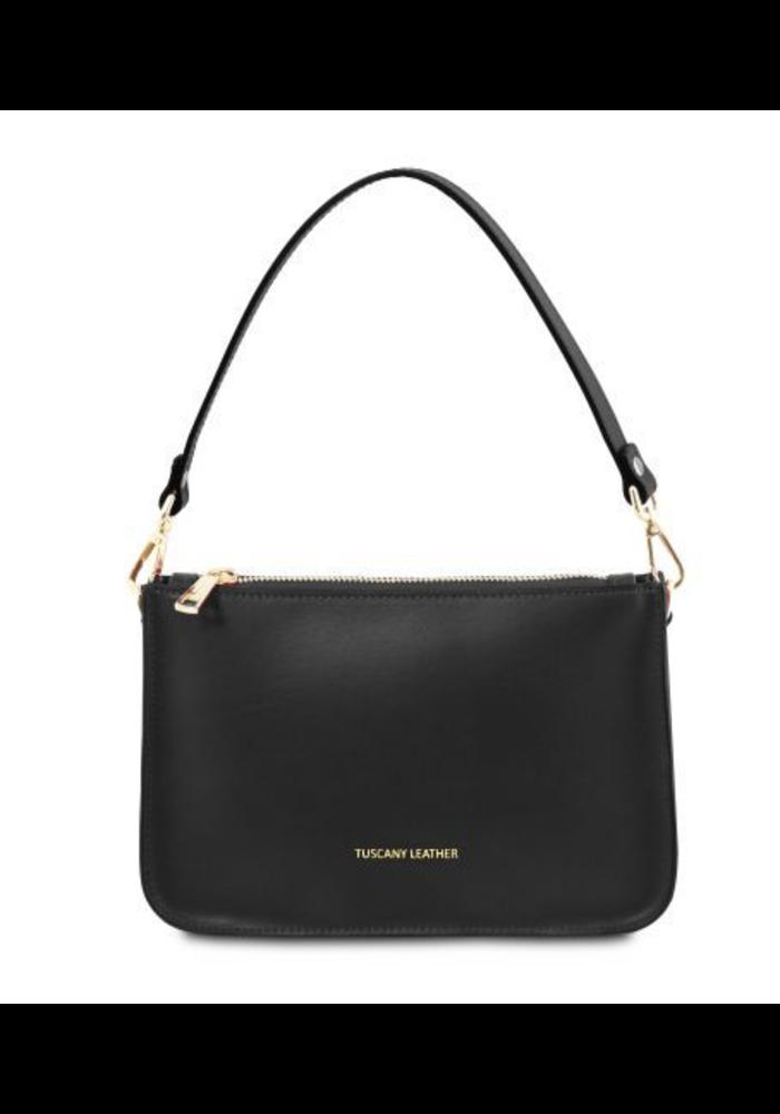 Cassandra Leather Cluth Handbag