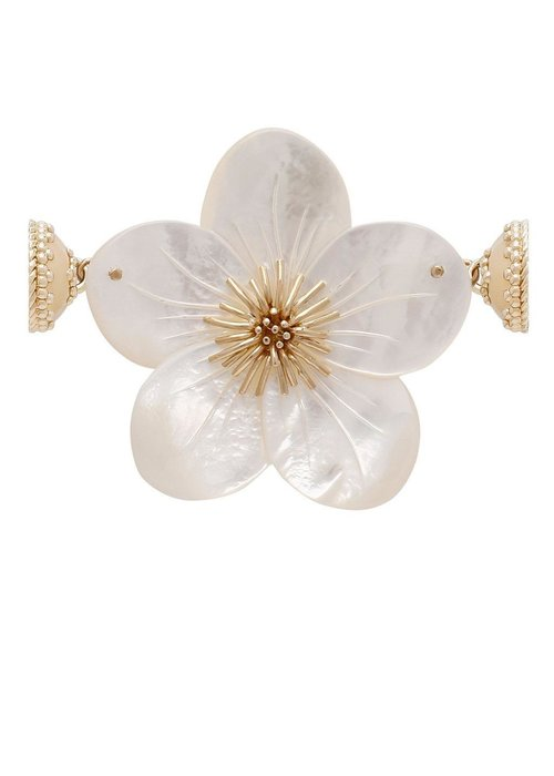 Clara Williams Clara Williams 14K Hand-Carved Mother of Pearl Flower Enhancer