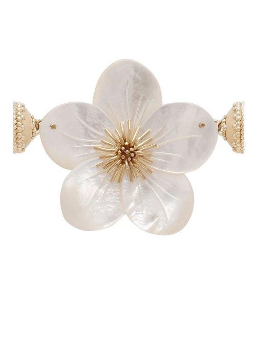 Clara Williams Clara Williams 14K Hand-Carved Mother of Pearl Flower Enhancer