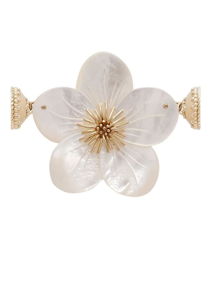 Clara Williams 14K Hand-Carved Mother of Pearl Flower Enhancer