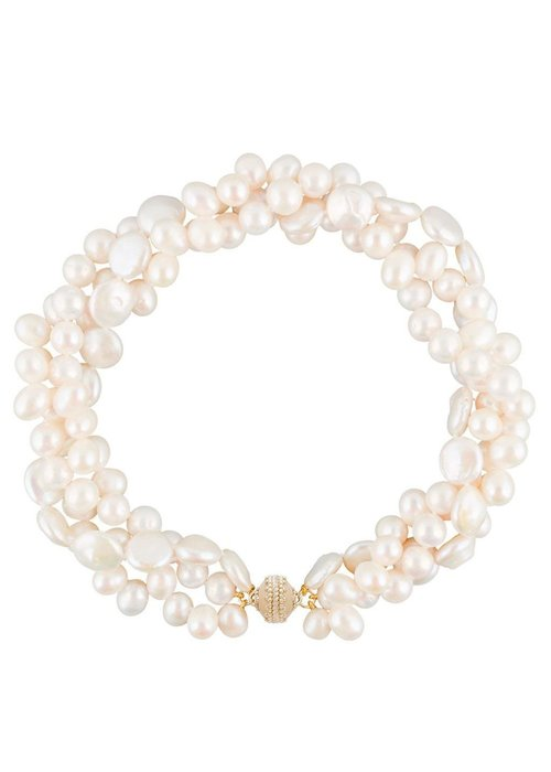 Clara Williams Clara Williams 3-Strand Freshwater Multi-Pearl Necklace