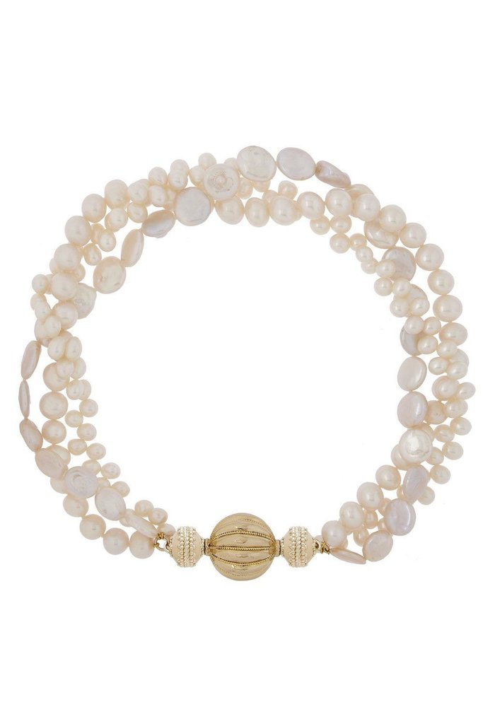 Clara Williams 3-Strand Freshwater Multi-Pearl Necklace