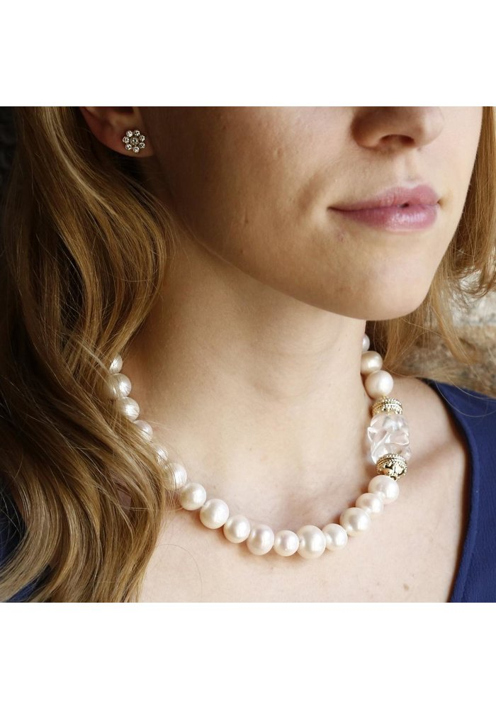 Clara Williams Classic Freshwater Potato Pearl Necklace