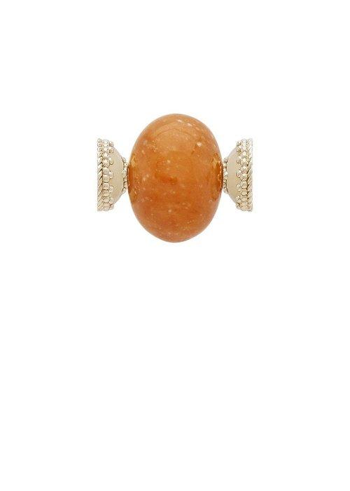 Clara Williams Orange Calcite Large Rhondelle Centerpiece Plated YG Signature Clasps