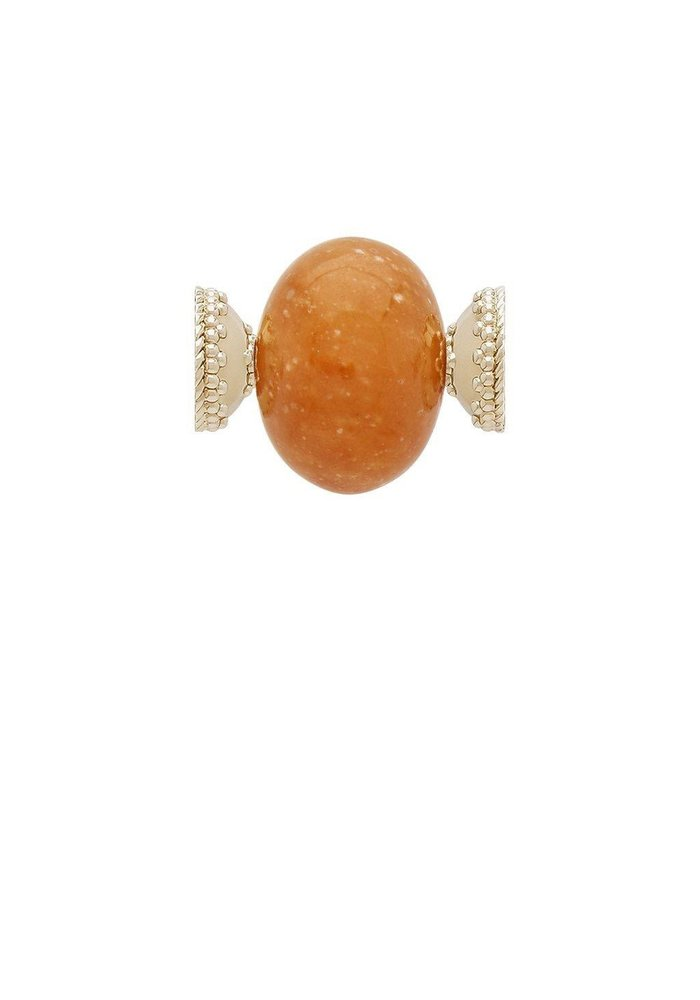 Orange Calcite Large Rhondelle Centerpiece Plated YG Signature Clasps