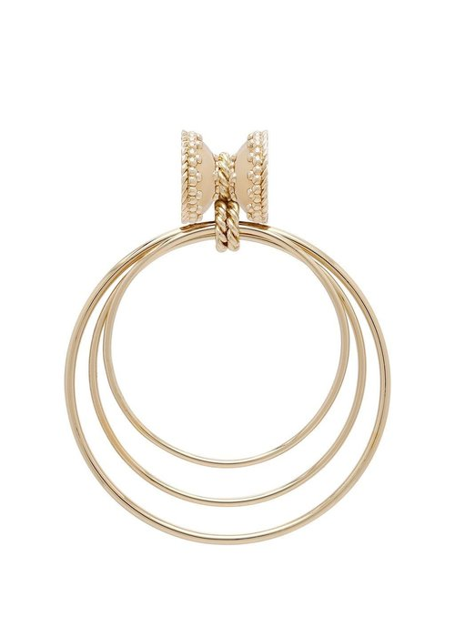 Clara Williams Orbit 14k Plated Small Centerpiece, Plated YG Signature Clasps