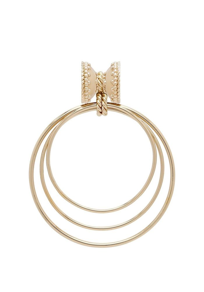 Orbit 14k Plated Small Centerpiece, Plated YG Signature Clasps