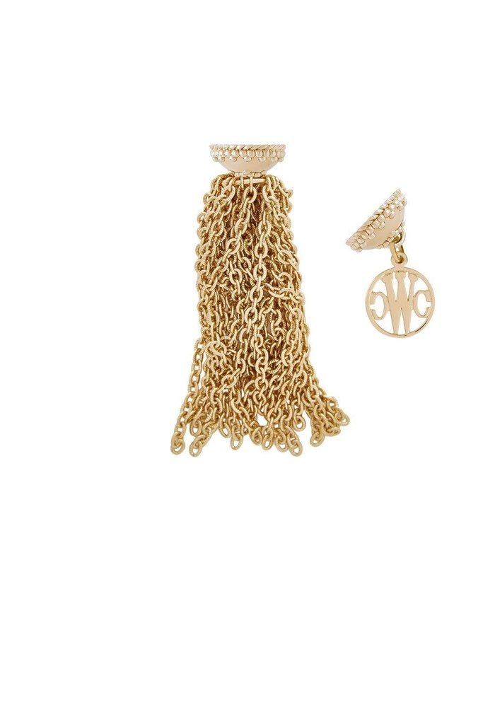 Belden 14k plated chain tassel, 22 strands, plated YG Signature clasps