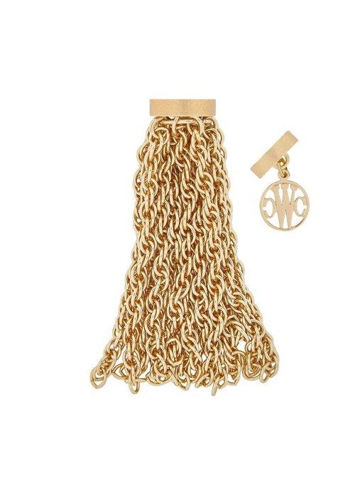 Clara Williams Mini Sheffield 14k TG plated tassel, 14 strands, plated YG studio clasps