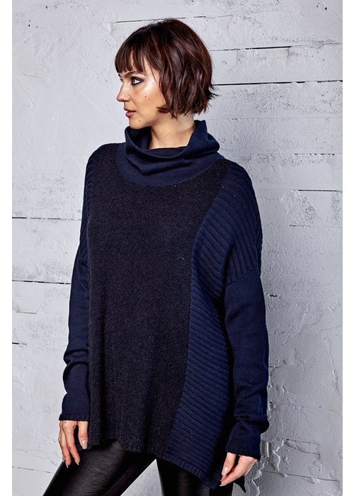 PLANET by Lauren G Planet Mixed Knit Turtleneck