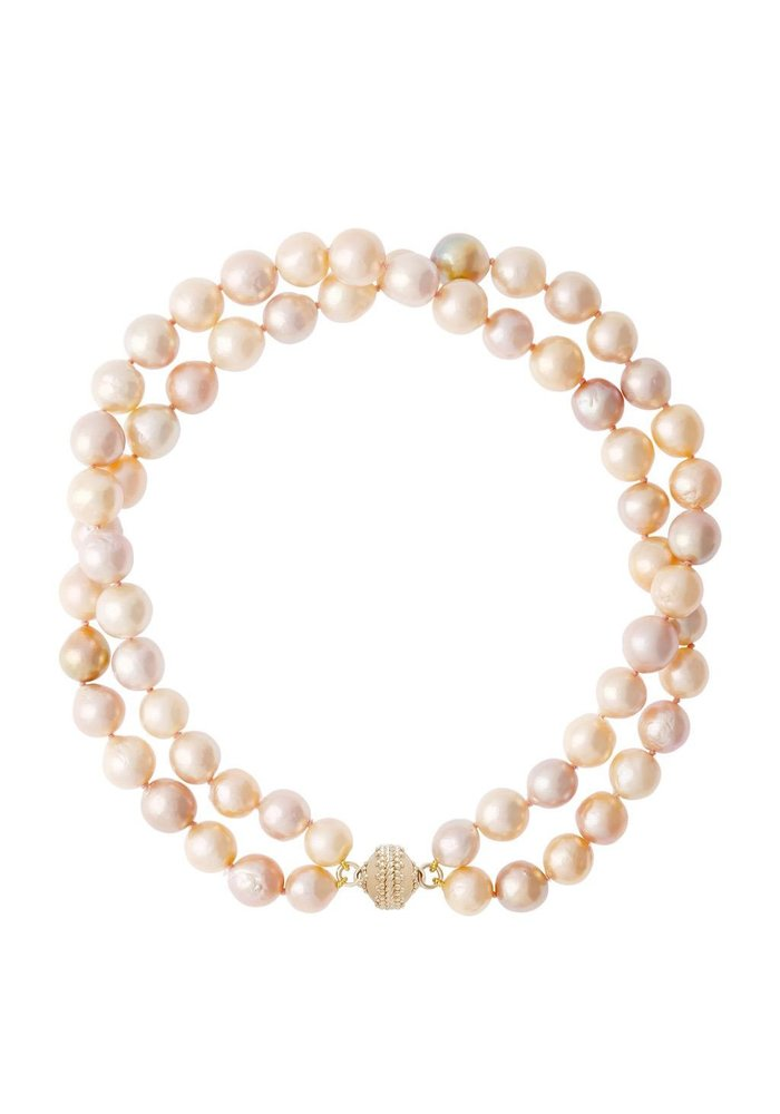Clara Williams Freshwater Pink Pearl Necklace, 2 strand