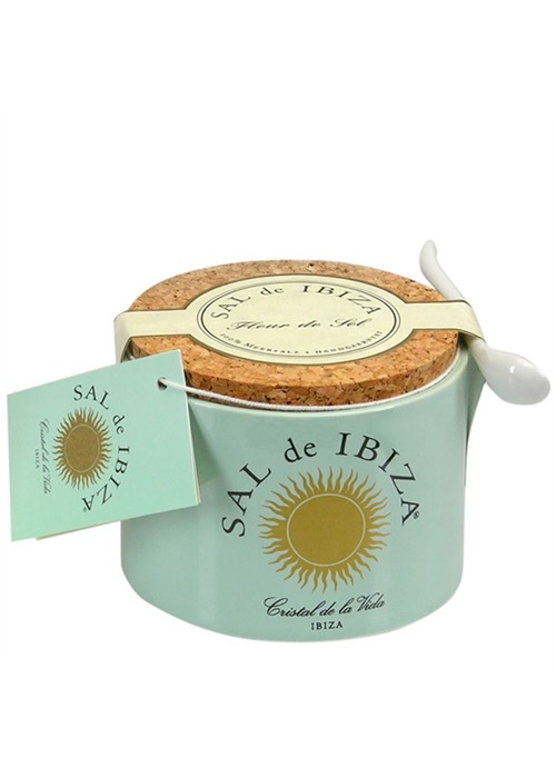 French Farm Fleur de Sel Ceramic Jar, Sal de Ibeza 150g