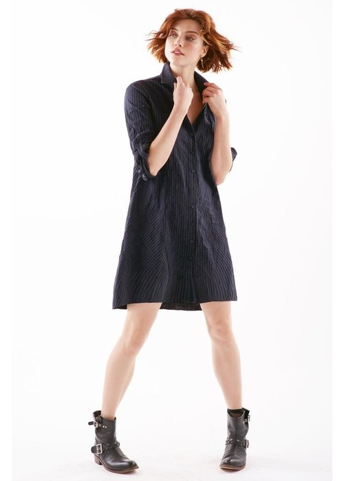 Finley Shirts Bailey Textured Stripe Dress