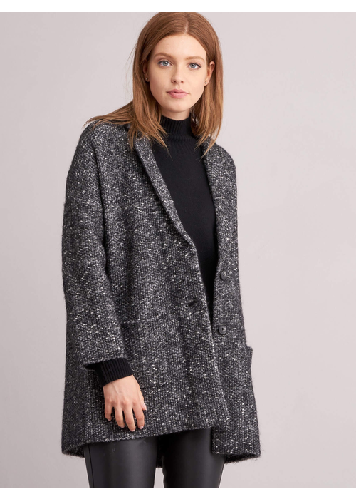 Repeat Cashmere Repeat Tweed Two Button Coat 51% Cotton, 13% Alpaca, 13% Acrylic, 12% Wool, 11% Nylon