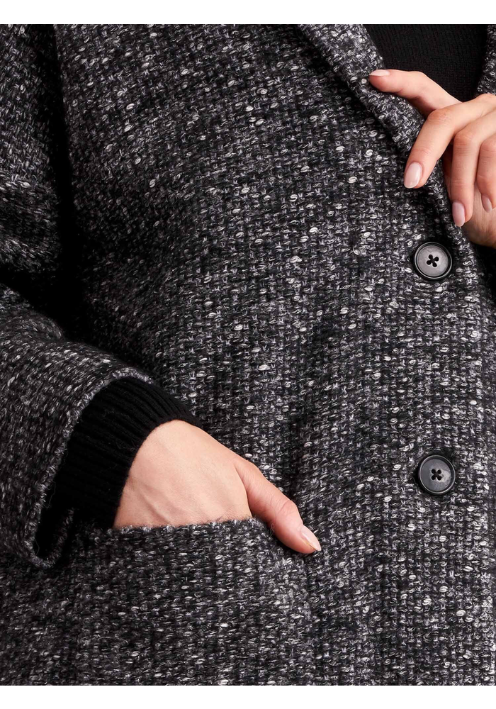 Repeat Tweed Two Button Coat 51% Cotton, 13% Alpaca, 13% Acrylic, 12% Wool, 11% Nylon