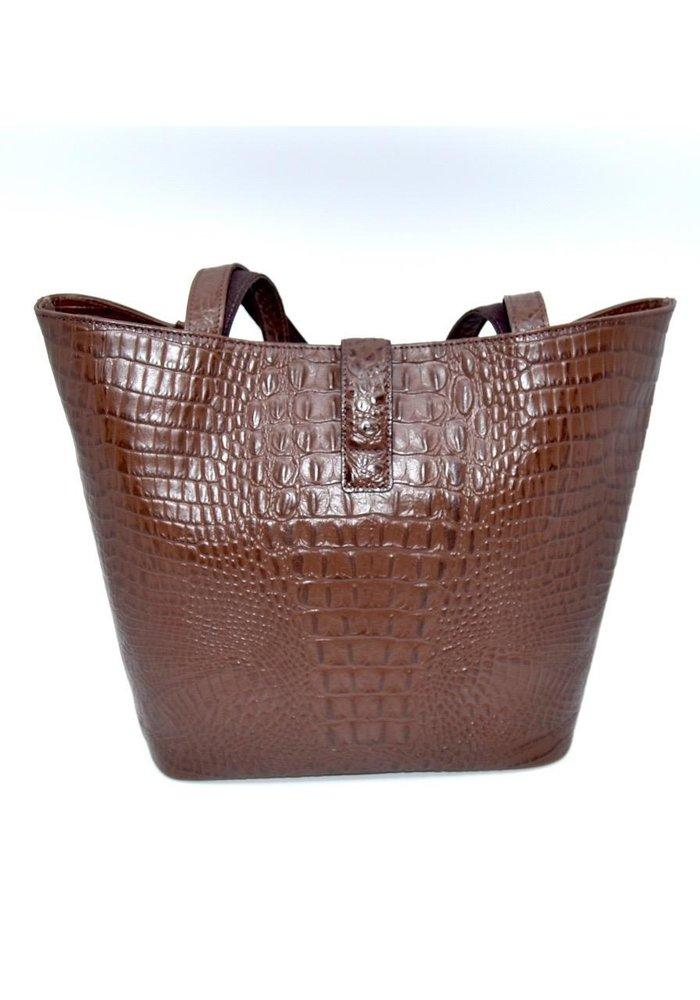 Stefano Bravo Deerskin H Bag - Embossed Leather - Crododile Pattern
