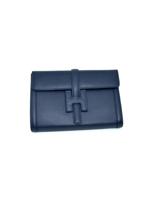 "Stephano Bravo Deerskin ""H"" Navy Embossed, Medium"