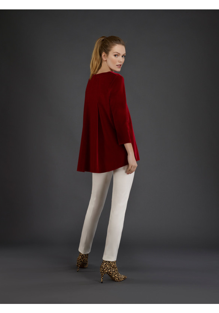 Estelle and Finn Back Pleated Shirt - Velvet